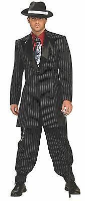 20s Style Suit (Zoot Suit Men's 20's-30's Era Gangster Style 3Pc Blk/Wht Pinstripe Coat &)