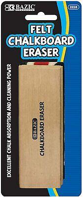 New Felt Chalkboard Eraser Wood Blackboard Eraser Cleaner Dustless Teache...
