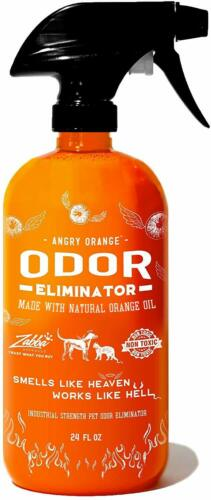 Angry Orange - Ready-to-Use Citrus Pet Odor Eliminator Spray - 24 oz