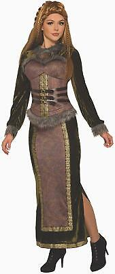 Viking Goddess Queen Medieval Woman Fancy Dress Up Halloween Adult Costume