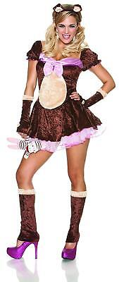 New DELICIOUS BEARY CUTE CUDDLY TEDDY BEAR GIRLY BOW SEXY HALLOWEEN COSTUME XS S](Girly Halloween Costume)
