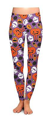 Leggings Two Left Feet Wicked Cool Halloween Attack of The Pumpkins Small/Medium (Halloween Cool Pumpkins)