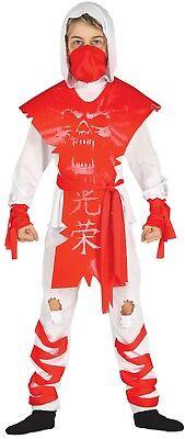 Jungen Mädchen Rot Soul Ninja Halloween Horror Kostüm Kleid Outfit 3-12 Jahre