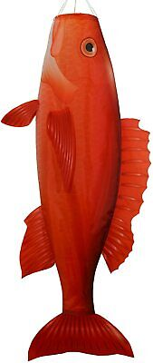 """WINDSOCK--48"""" red Snapper Windsock, Diva, Spinner by In the Breeze"""