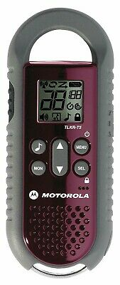 2x MOTOROLA TLKR T5 Mobile Walkie Talkie 2 Way Radio's. Burgundy  License free.