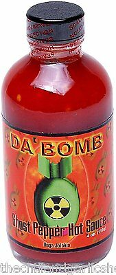 Da Bomb Ghost Pepper Hot Sauce 4oz