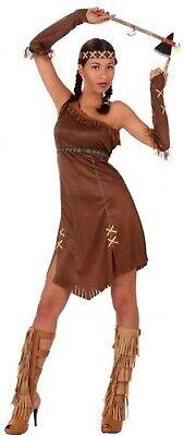 Damen Indianer Wilder Westen West Junggesellinenabschien Kostüm UK 8-18