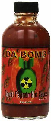 Naga Jolokia Hot Sauce (Da' Bomb Naga Jolokia Ghost Pepper - Hot Spicy Natural Chilli Sauce)