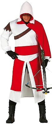 Erwachsene Herren Ritter Templer Assassin Historische Gaming Kostüm Kleid Outfit