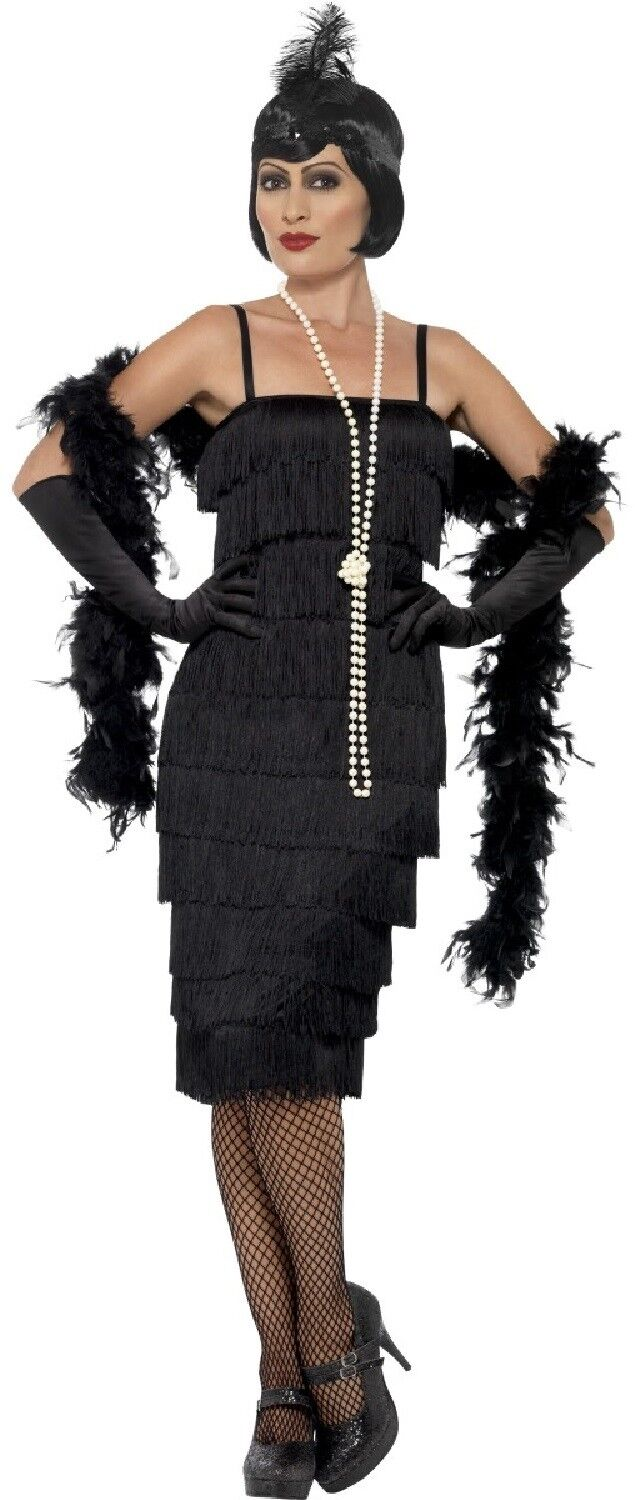 Guanti Donna Ruffle Flapper 20s 30s Gangster Moll