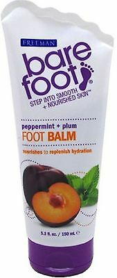 Freeman Bare Foot Softening Foot Balm, Peppermint - Plum 5.30 oz (Pack of 2) Barefoot Peppermint Plum Softening Foot