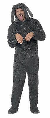 Smiffy's Men's Fluffy Dog Costume, Hooded All in One, Party Animals, Adult