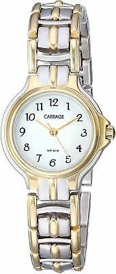 Timex Carriage C3C353, Women's 2-Tone Bracelet Watch, White Dial, 30 Meter WR
