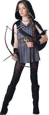 Hooded Huntress Tween Costume (Incharacter Hooded Huntress Artemis Katniss Tween Girls Halloween Costume)