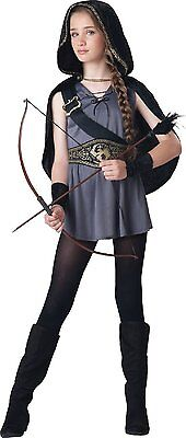 Incharacter mit Kapuze Jägerin Artemis Katniss Tween Mädchen Halloween Kostüm (Mädchen Katniss Kostüm)
