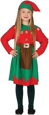 Kinder Mädchen Santa's Kleine Helfer Elfen Weihnachten Kostüm Kleid Outfit
