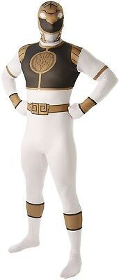 Herren Weiß Power Ranger 80s 90s 2nd Skin Body Kostüm Kleid Outfit