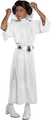 Mädchen Deluxe Star Wars Prinzessin Leia Buch Tag + Perücke Kostüm Kleid - Deluxe Star Wars Prinzessin Leia Mädchen Kostüm