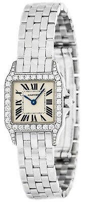 Cartier Santos Demoiselle 18kt White Gold Diamond Women's Watch WF9003Y8