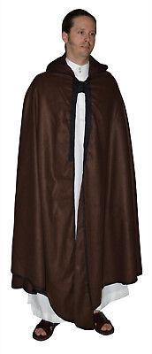 Full Length Cape (Men Cape Hooded Winter Full Length Cotton Blend Moroccan Fits LG-XL)