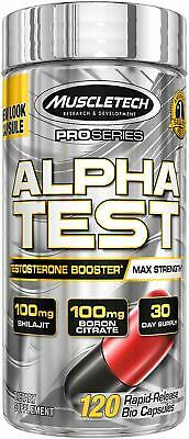 MuscleTech Pro Series AlphaTest Testosterone Booster 120 Capsules