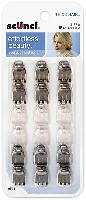 Scunci 1718703a048 Mini Thick Hair Jaw Clips 18 Count