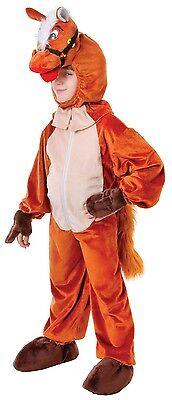 Mädchen Jungen Kinder Braunes Pferd Bauernhof Tierkostüm Outfit 6-7-8 (Braunes Pferd Kind Kostüm)