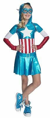 American Dream Hooded Marvel Superhero Fancy Dress Up Halloween Child Costume