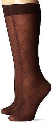Jones New York Brown Diamond Pattern 20 Denier Trouser Socks - 2-Pack- $12.50 Diamond Pattern Trouser Socks