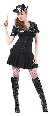 Sheriff-Kostüm für Damen Western schwarz Cod.214592