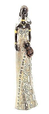 Afrikanerin mit Wasserkrug Frauen Figur 24 cm Afrika Dekofigur afrikanisch