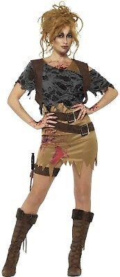 Ladies Deluxe Zombie Hunter Walker Halloween Horror Fancy Dress Costume Outfit](Halloween Costumes Vampire Hunter)