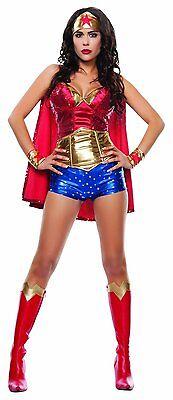 Starline Wonder Lady Damen Erwachsene Comicbuch Super Hero Halloween - Starline Kostüm