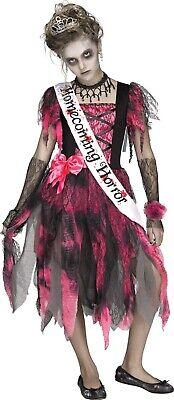 Mädchen Zombie Heimkehrer Horror Prom Queen Halloween Kostüm - Mädchen Zombie Prom Queen Kostüm