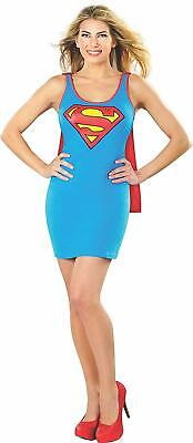 Rubie's DC Comics Supergirl Adult Tank Dress with Cape, Blue, Large Costume](Dc Comics Costume)