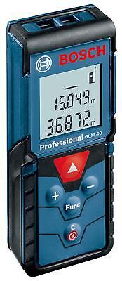 Bosch Professional Laser Distance 40 Meter Range Finder Glm40 W Tracking New