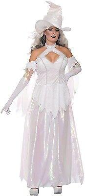 Damen Sexy Weiß Wicca Gut Hexe Halloween Horror - Sexy Gute Hexe Kostüm