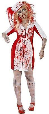 Ladies Zombie Nurse Halloween Fancy Dress Costume Outfit 16-30 Plus Size - Plus Size Zombie Nurse Halloween Costumes