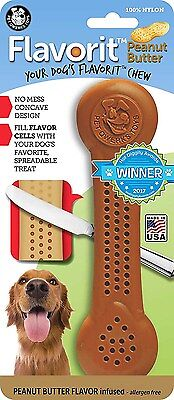 PetQwerks Flavorit -Peanut Butter Flavored Nylon Bone for Aggressive Chewers