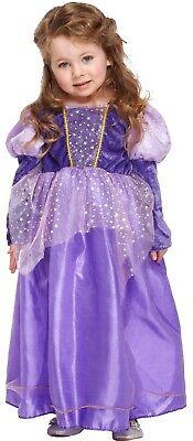 Mädchen Kleinkind Lila Stars Prinzessin Königsblau Kostüm Kleid Outfit Alter
