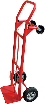 Movers Hand Truck 600lb Capacity Portable 4 Wheel Push Cart Red Platform Dolly