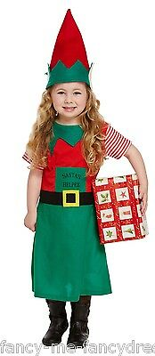 Kleinkind Mädchen Weihnachtsmann Helfer Elfen Weihnachten Kostüm Kleid Outfit 3