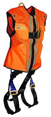 Falltech 7015lxo Vest Harness Non-belted Fbh - Reflective Vest Orange Lxl