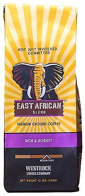 Westrock Coffee East African Blend Medium Dark Roast Ground 12Oz