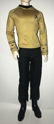 Barbie Star Trek 50th Captain Kirk Collector Ken Doll Outfit Uniform Boots NEW