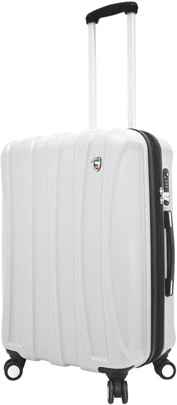 Mia Toro Italy Tasca Fusion Hardside 24 Inch Spinner, White, One Size