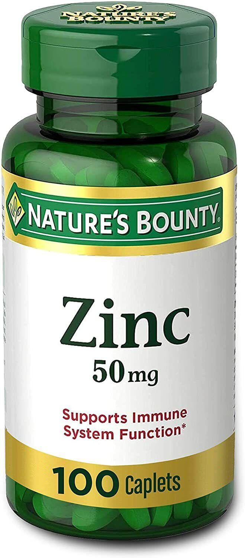 Pastillas Para El Acne 100 Tabletas De Zinc Con Vitaminas/Minerales Para La Piel