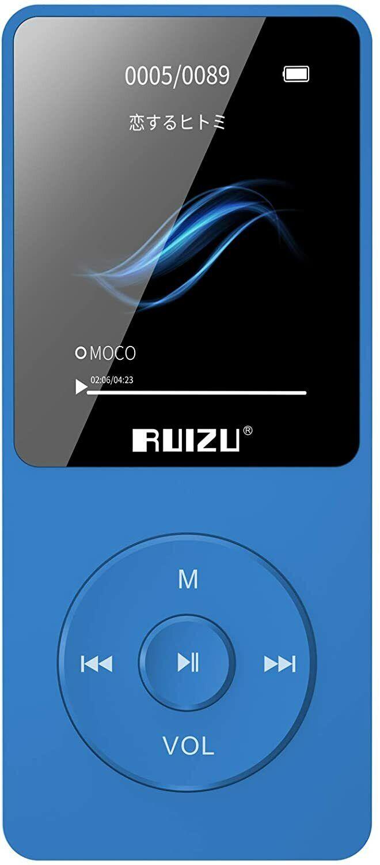 MP3 Player, RUIZU X02 16GB Ultra Slim Music Player,Long Batt