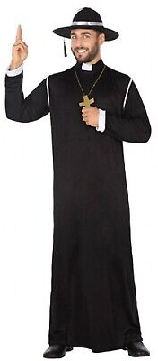 Herren Schwarz Priester Heilige Vater Religiös Junggesellenabschied Kostüm - Priester Jungen Kostüm