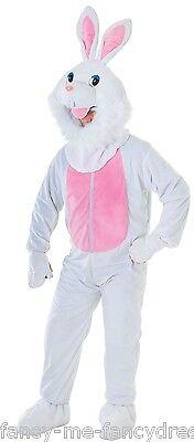 Herren Damen weiß Ostern Kaninchen Häschen Maskottchen Tier Kostüm Kleid Outfit